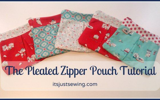 The Pleated Zipper Pouch Tutorial