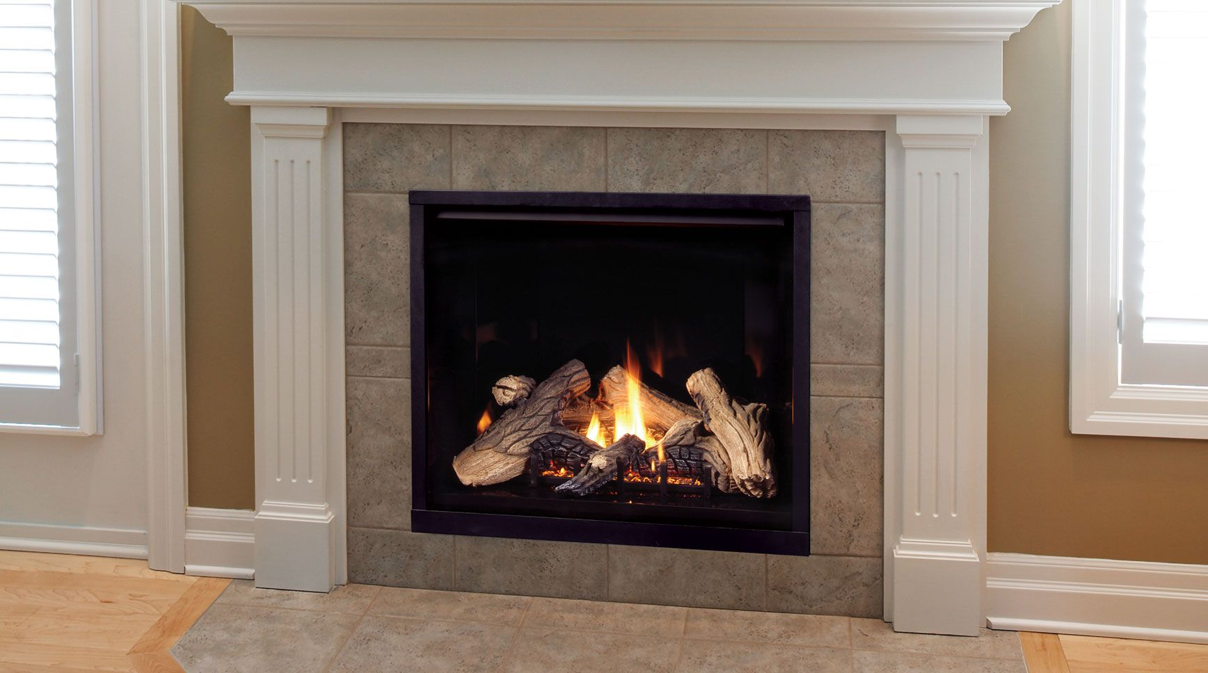 Gas fireplaces come in vented or nonvented systems. Not