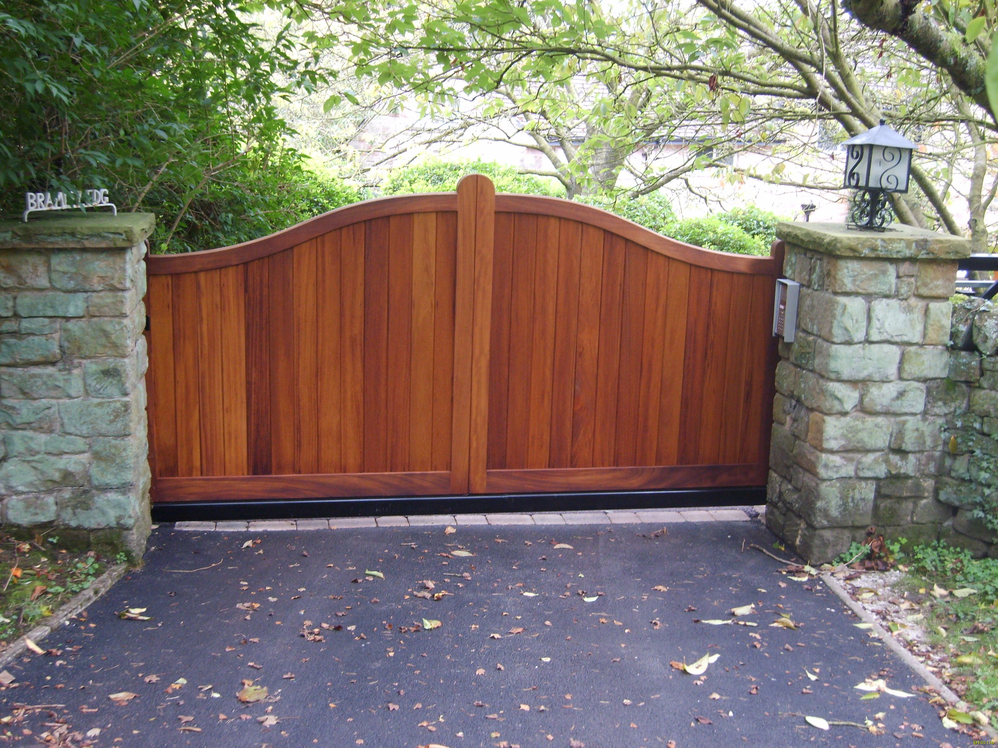 Exterior Inspiration Sightly Wooden Driveway Gates And