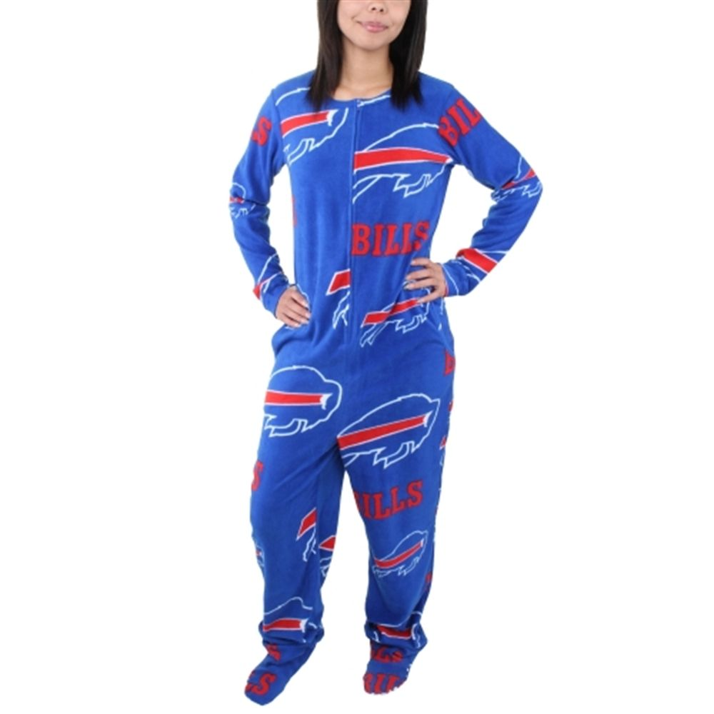 save off d6d06 80a6d Buffalo Bills Women's Ramble Union Suit Footed Pajamas ...