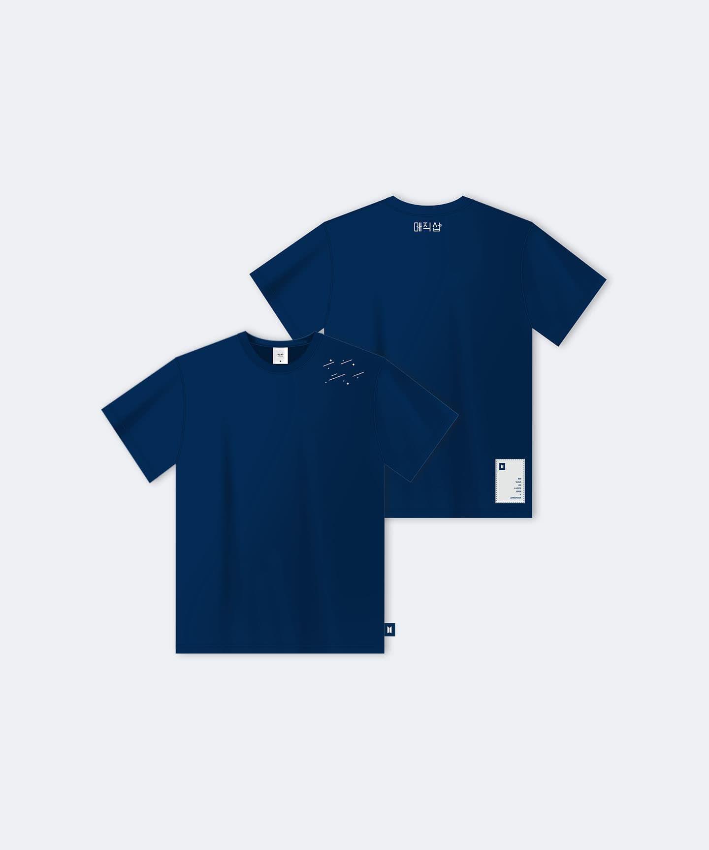 T-shirt Navy | Shirts, T shirt, Bts merch