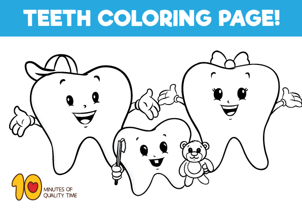 Teeth Coloring Page Coloring Pages Bunny Coloring Pages Dolphin Coloring Pages