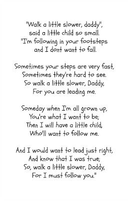 photo about Walk With Me Daddy Poem Printable identified as Fathers Working day Poem + Printable R R Workshop #giftidea