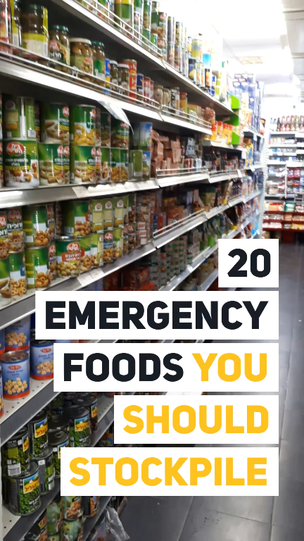 20 Emergency Foods You Should Stockpile #hurricanefoodideas
