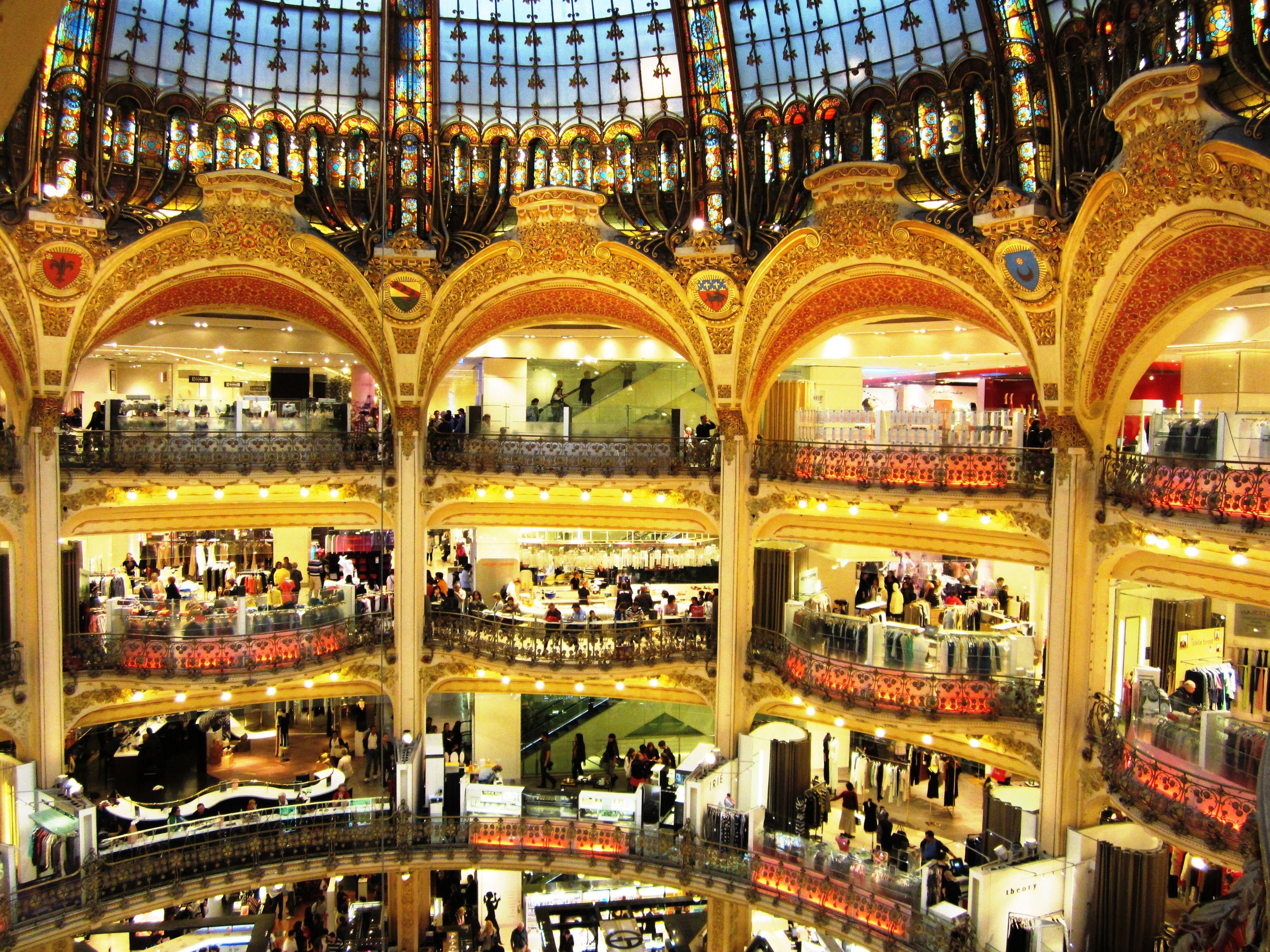Galeries de Lafayette #Paris #France. Photo by Carly Carson