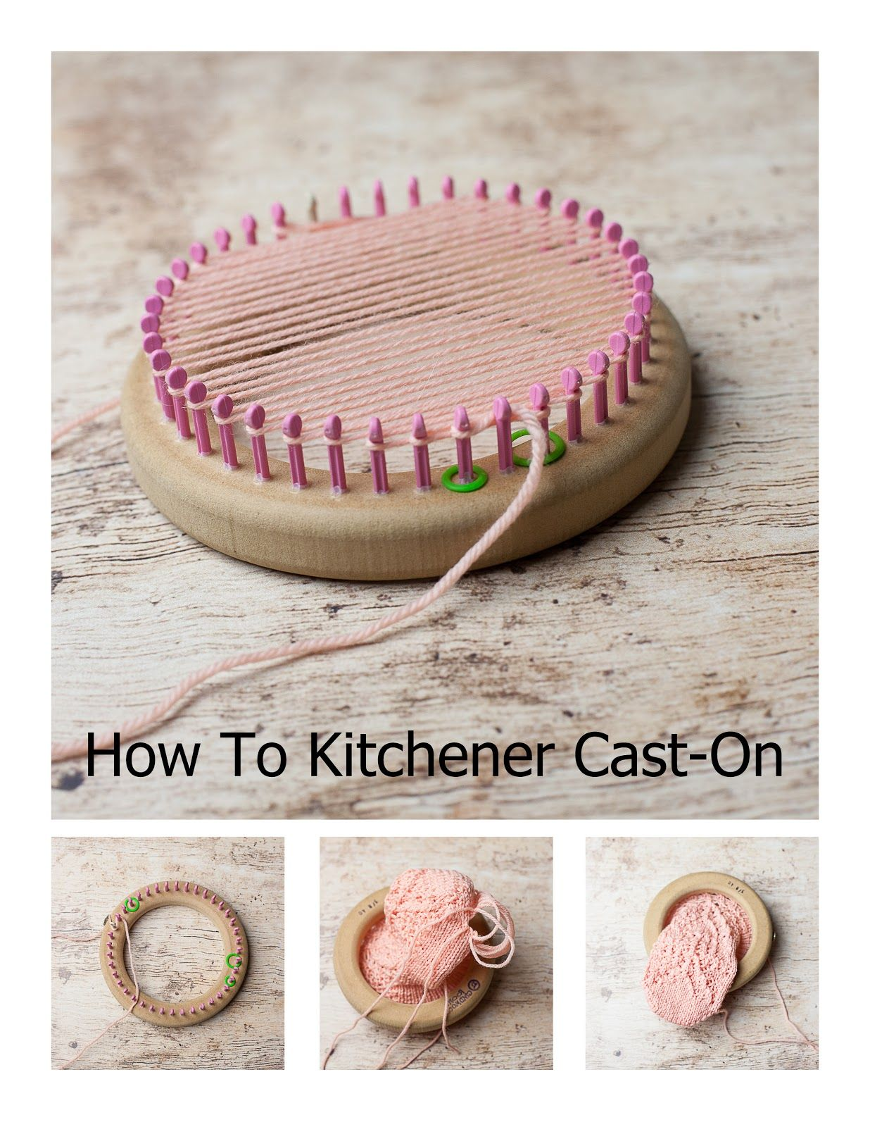 How To Kitchener Cast-On The Loom!