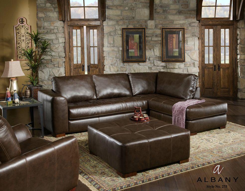 Best 275 Albany Capri Sauvage Dark Brown Sectional 400 x 300