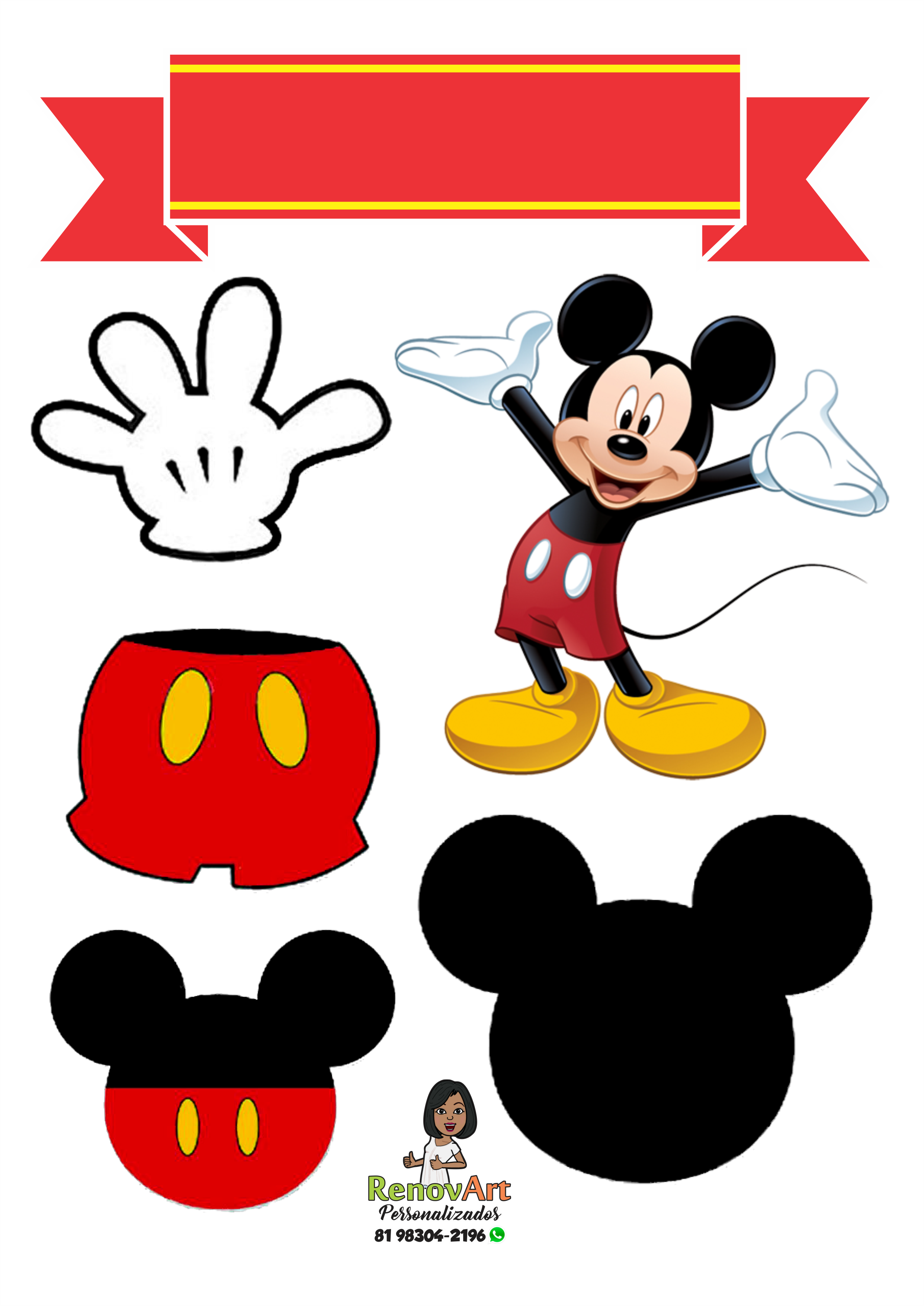 Topo De Bolo Mickey Mickey Party Bolos De Aniversario Do