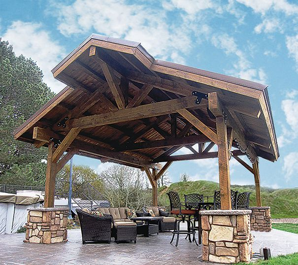 Contemporary Picnic Shelter Google Search: Wood Pavilion Example