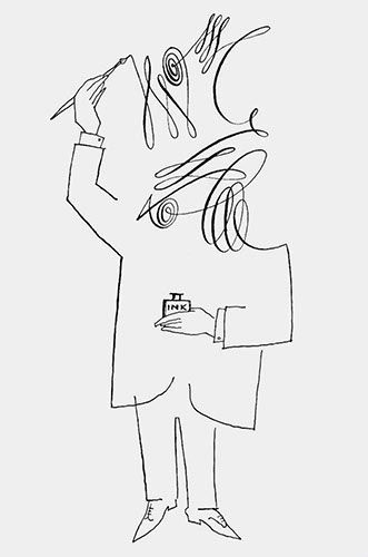 Untitled, 1954. Ink on paper. Originally published in The New Yorker, July 10, 1954. http://www.pinterest.com/colorwings/artist-saul-steinberg/