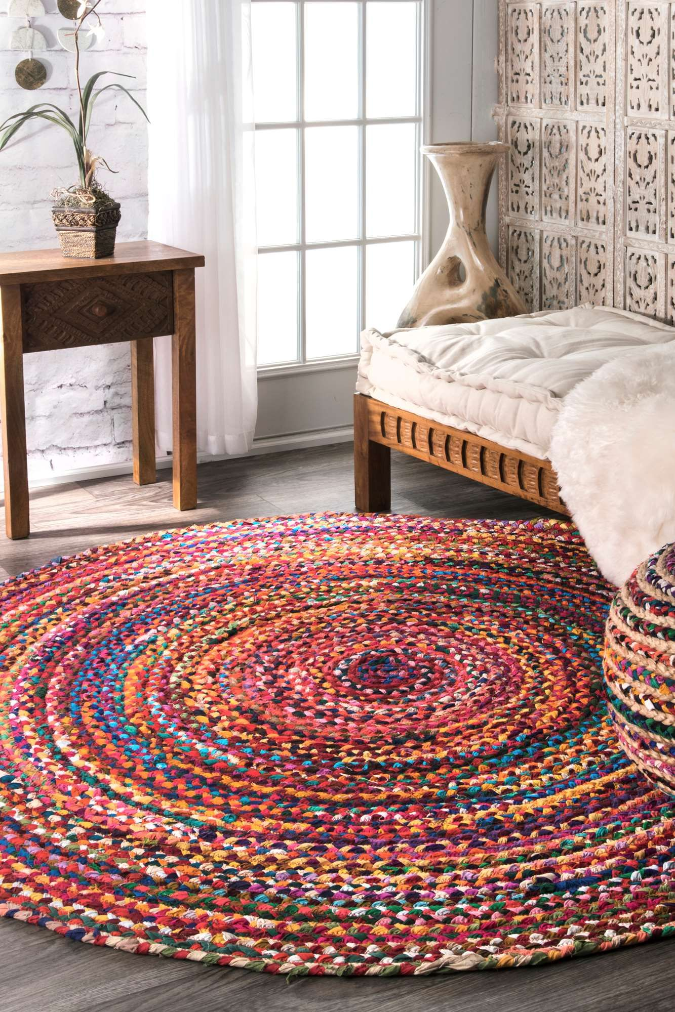 exceptional Round Braided Rugs For Sale Part - 7: Rugs USA Chindi Braided RUG