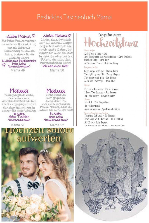 Besticktes Taschentuch Mama Musik Deko Besticktes Taschentuch Mama Hair Styles Model Hair Womens Hairstyles