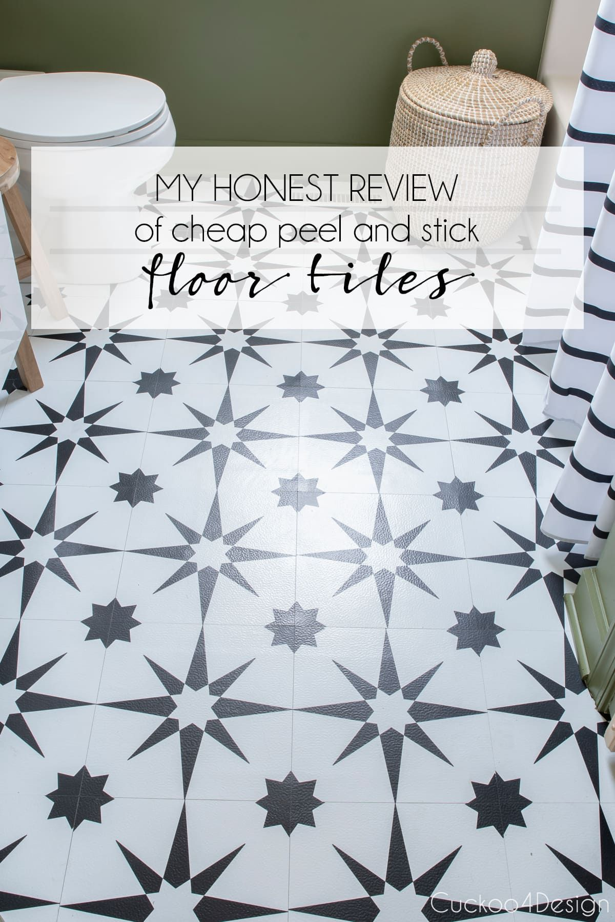 My Honest Review Of Cheap Peel And Stick Floor Tile Peel And Stick Floor Stick On Tiles Cheap Bathroom Makeover