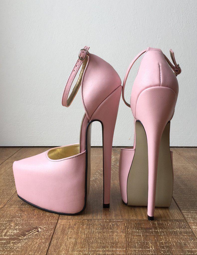 HAASINK 20cm Genuine Leather Sharp Toe Discreet Platform D