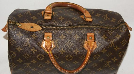 Images For Louis Vuitton Made In France >> Price 472 Authentic Louis Vuitton Monogram Speedy 35 Bag Made In