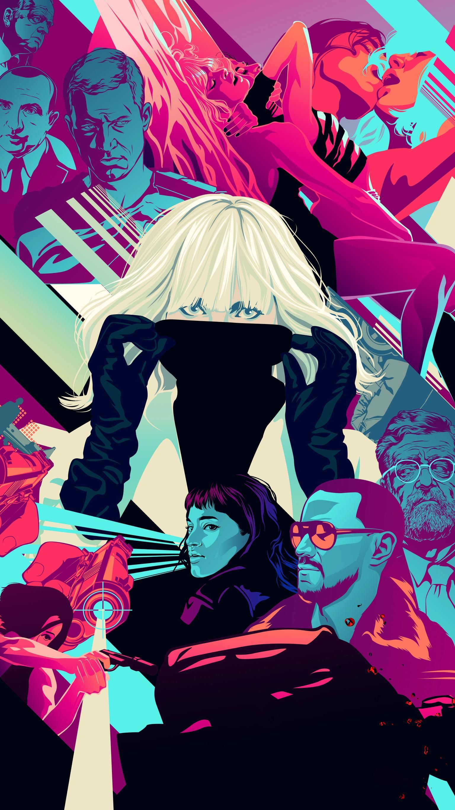 Atomic Blonde (2017) Phone Wallpaper in 2019  Best movie posters