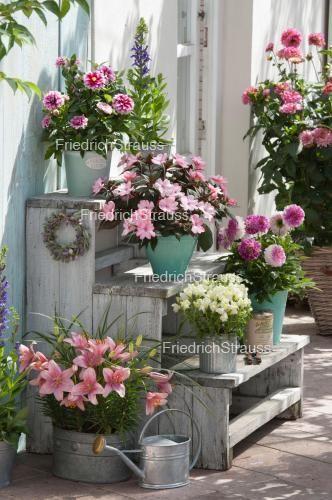 Blumentreppe Aus Paletten