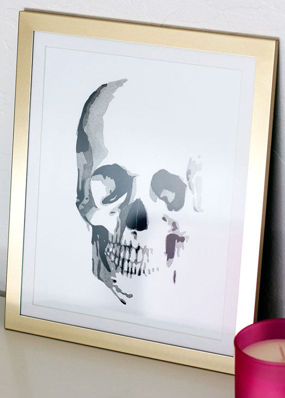 Skull Watercolor Giclee Fine Art Print Poster of Original Painting 5 ...