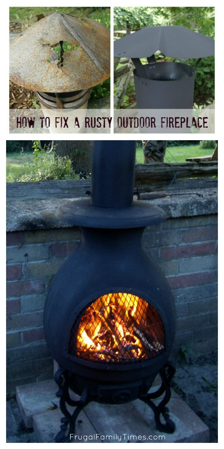 How to Fix a Rusty Outdoor Fireplace | Diy outdoor ... on Cheap Diy Outdoor Fireplace id=44308