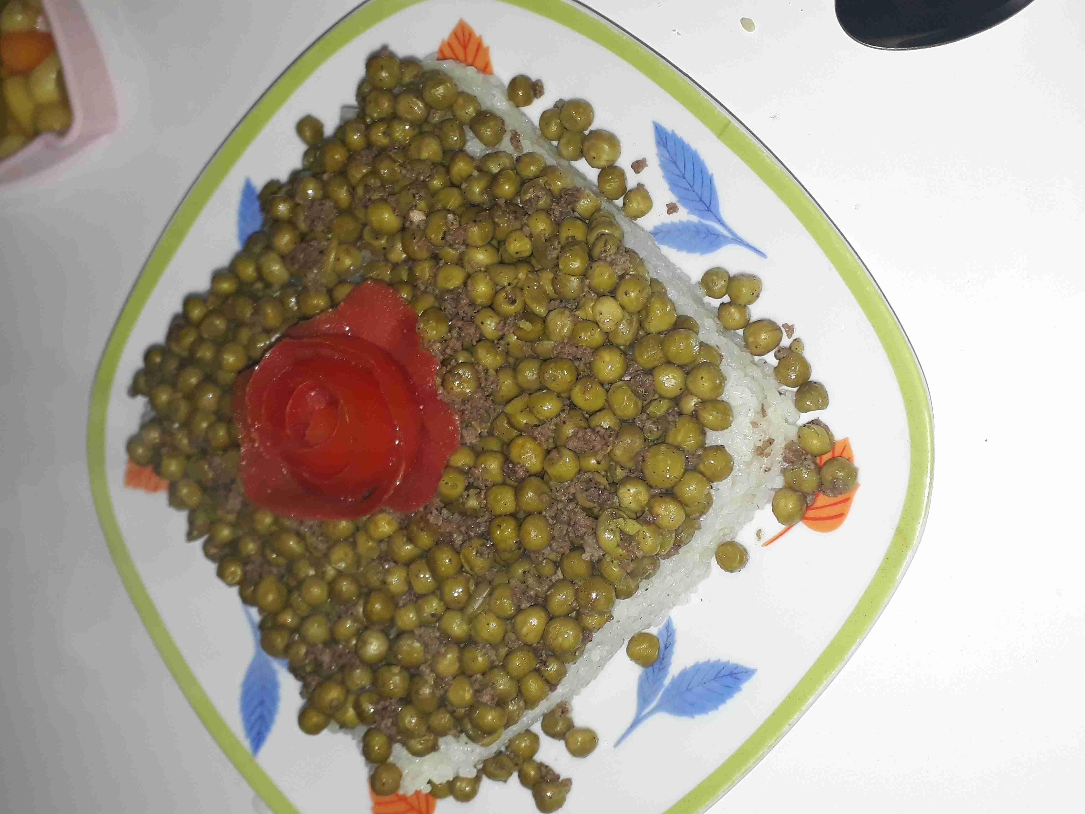 رز وبازلاء ولا أطيب زاكي Recipe Main Dishes Meat Food