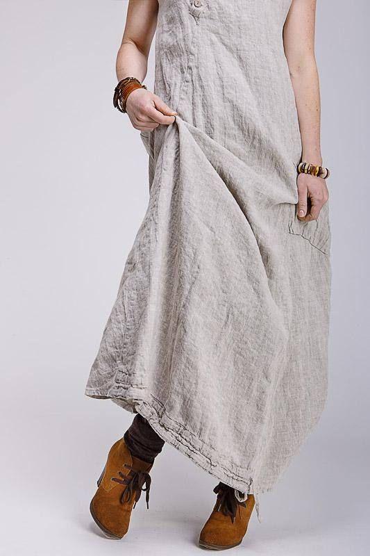 6c950ef83ec Boho style pure linen dress in 2019