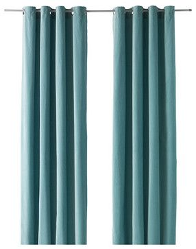 Sanela Curtains Light Turquoise Modern Curtains By Ikea