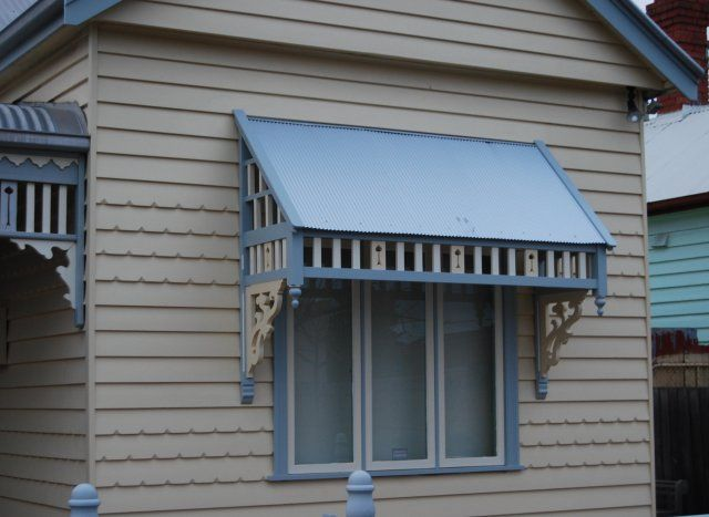 A Beautiful And Functional Curb Appeal With Window Awnings – Patio