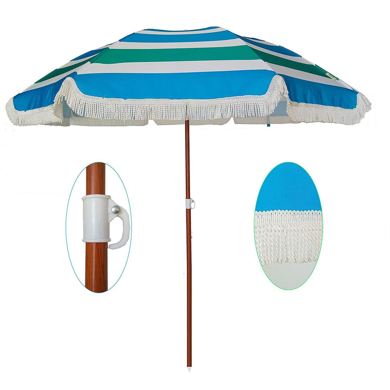 AMMSUN 2018 6ft Outdoor Patio Beach Umbrella