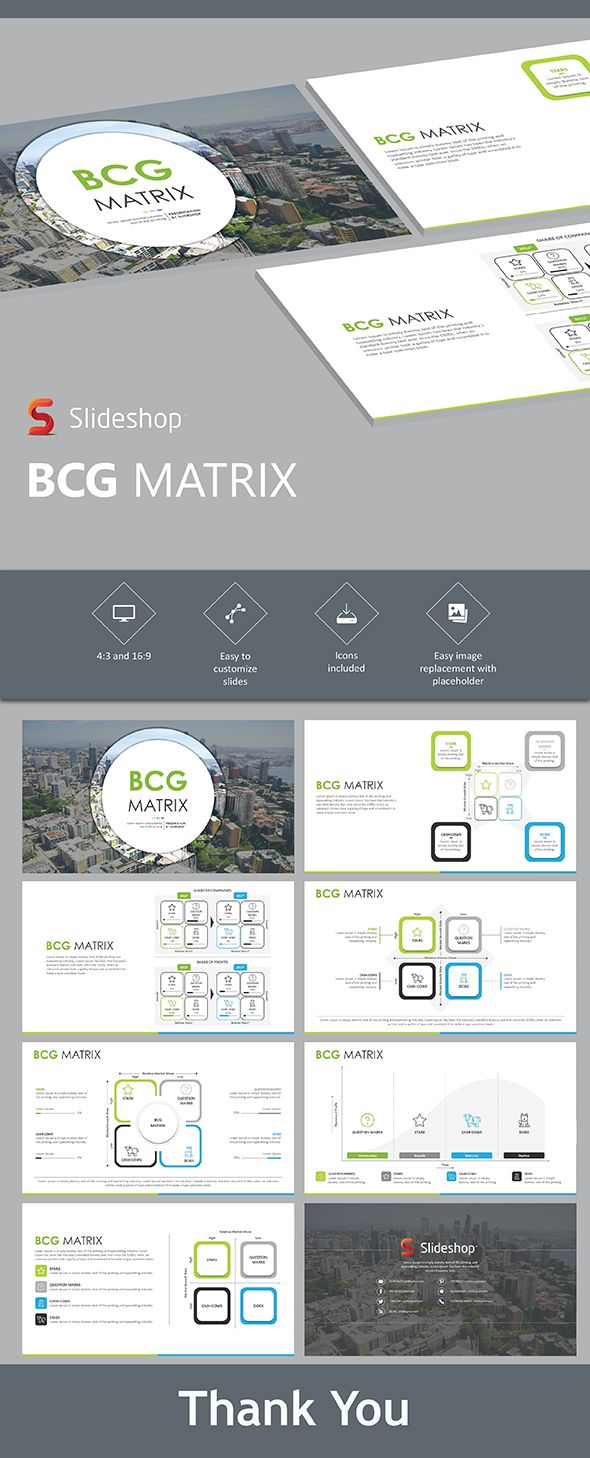 bcg matrix - powerpoint template | powerpoint templates, Powerpoint templates