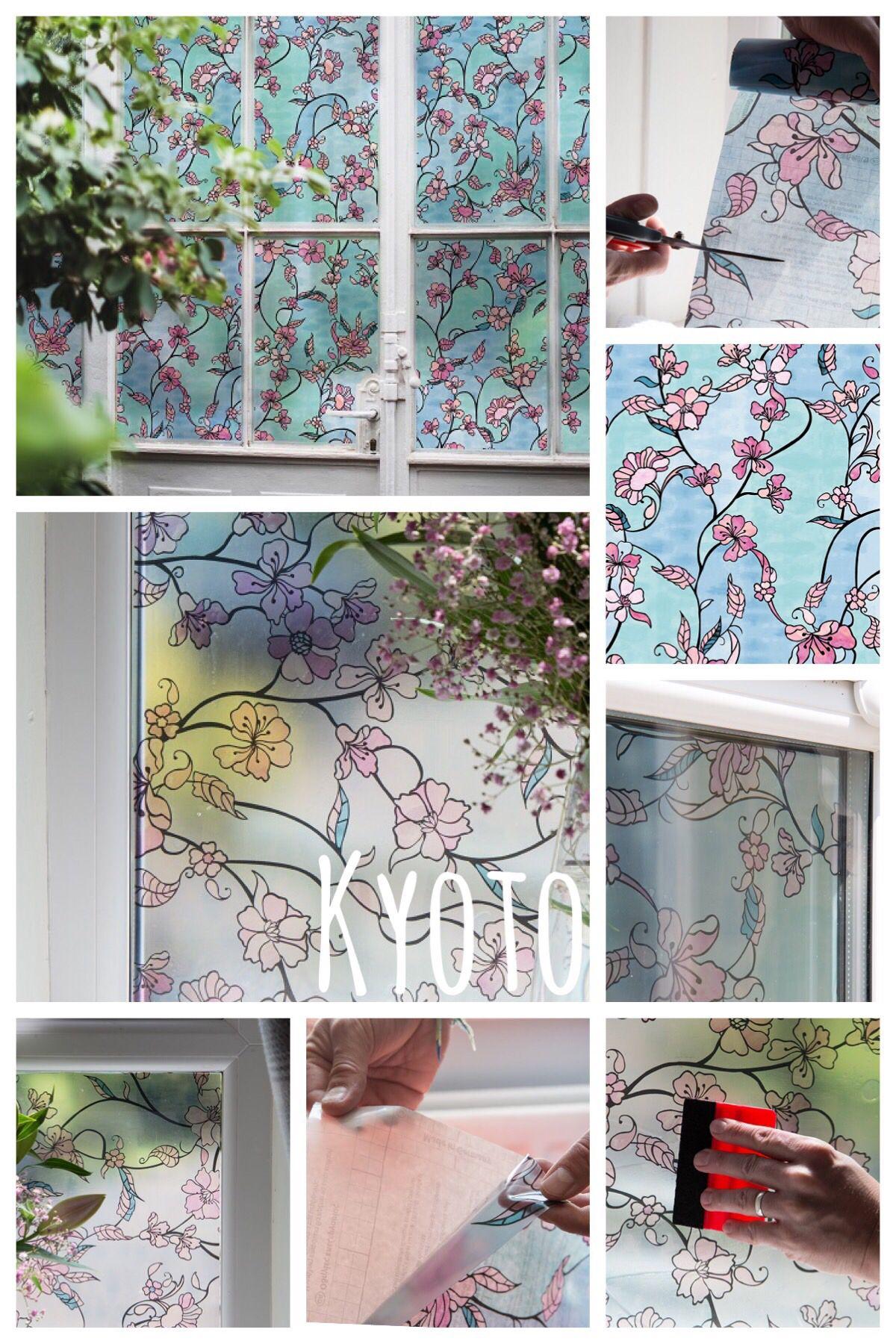 67 5cm X 1 5m D C Fix Kyoto Static Cling Vinyl Window Privacy Film 338 8141 Window Film Designs Window Film Static Cling