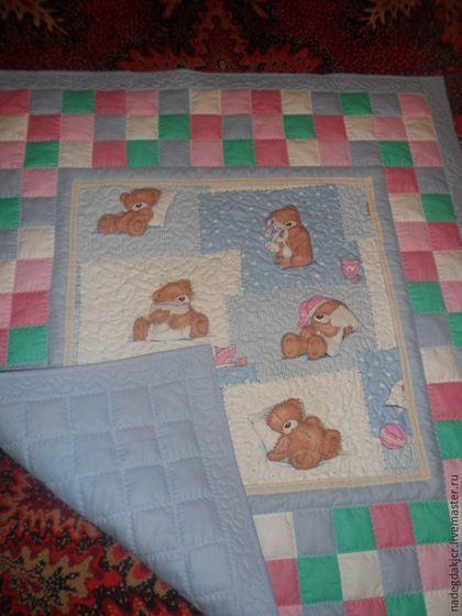 Подарки для новорожденных, ручной работы. Детский комплект одеяло и наволочка. Надежда. Ярмарка Мастеров. Детское покрывало, одеяло в кроватку, синтепон