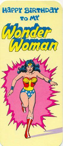 Vintage Wonder Woman Birthday Card