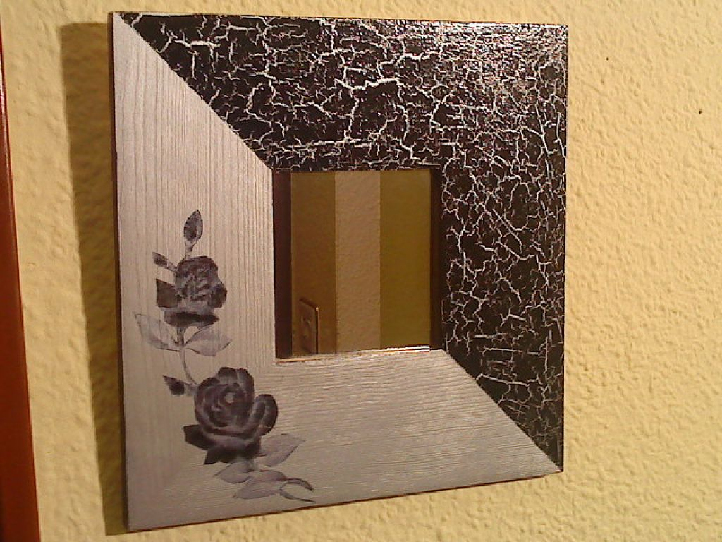 Mi coleccion de malmas es facil y espejo for Pintar marco espejo