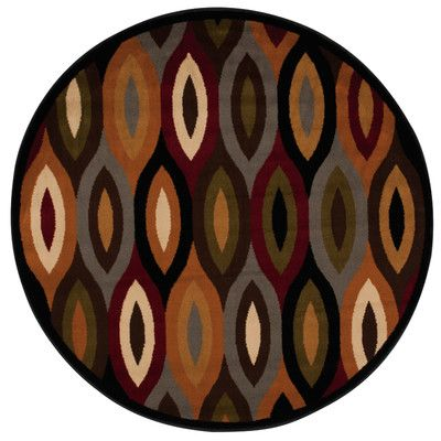 Andover Mills Rouseville Orange/Gray Area Rug Rug Size: