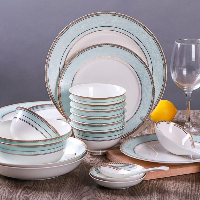 European stlye bone china tableware 56 Pcs 60 pcs Ceramic dishes set Fashion simple dinnerware sets & European stlye bone china tableware 56 Pcs 60 pcs Ceramic dishes set ...