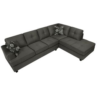 Chase Charcoal Gray Sectional Sofa
