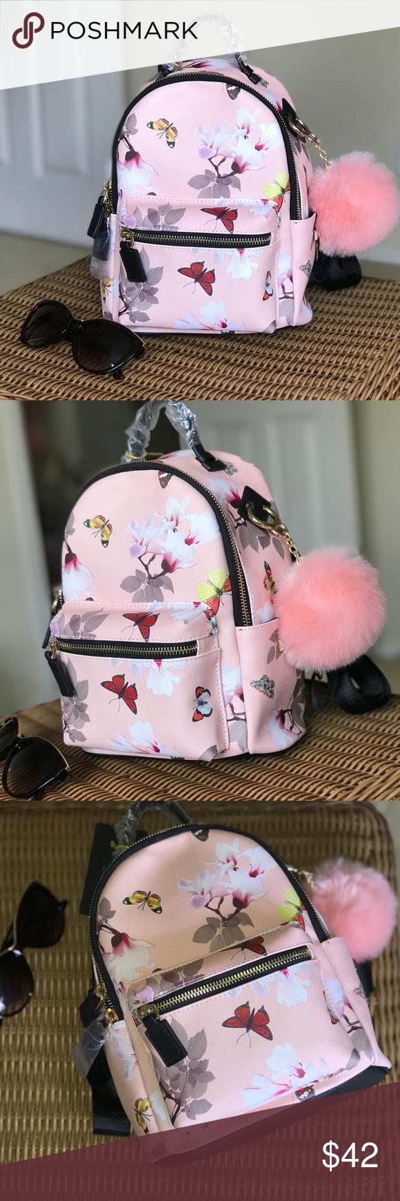 0d37068c80 Black Backpack With Pink Pom Pom | Building Materials Bargain Center