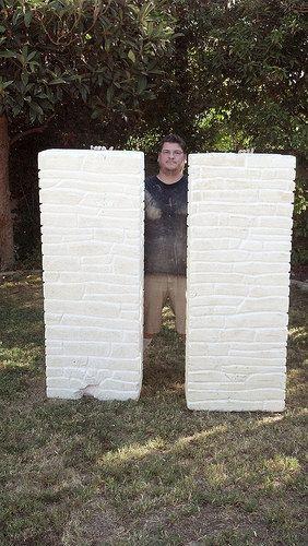 foam columns Halloween mad lab halloween Pinterest Columns - diy outdoor halloween props