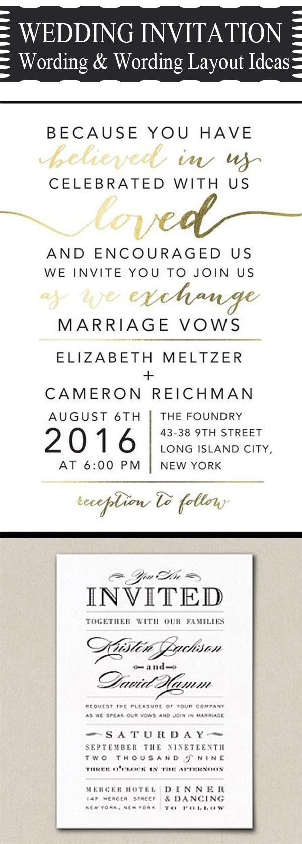 Most Popuplar Wedding Invitation Verse And Wording Template Ideas