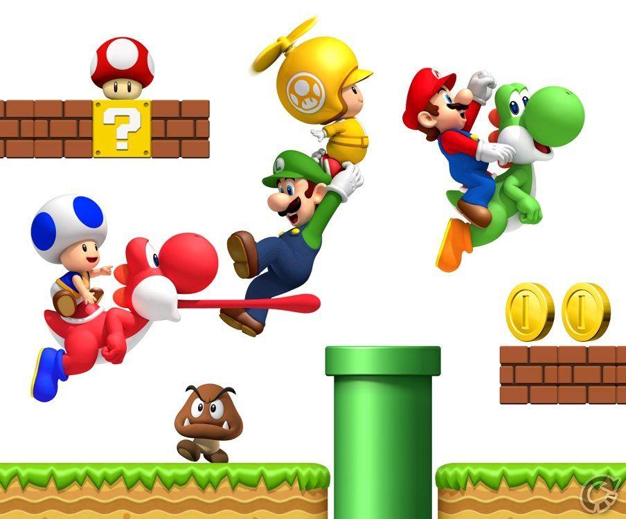 New Super Mario Bros Wii Wallpaper Mario And Luigi Super Mario