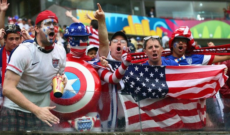 These Usa World Cup Fans Are Super Passionate About Their Patriotic Attire Bustle Usa World Cup World Cup Fifa
