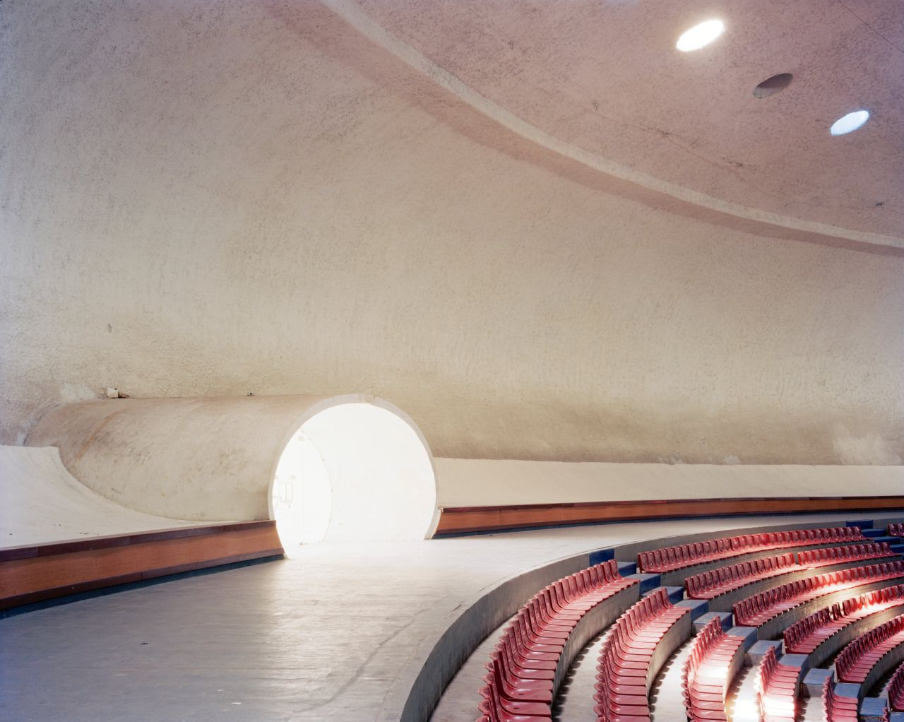 La Coupole stadium interior, Algiers (Oscar Niemeyer