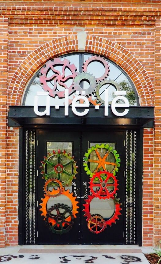 Ulele Restaurant with prettiest doors of any restaurant ever...T&a Florida via flickr I live in the town next door and have never been!!! thanks LM ♥ & Ulele Restaurant with pretty pump house gears on entrance doors ...