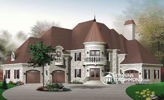 Plan de Maison unifamiliale W3429, champêtre, country, house style - idee de plan de maison