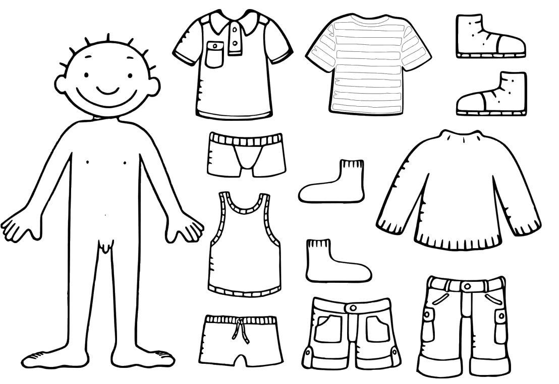 kleurplaten peuters kleding