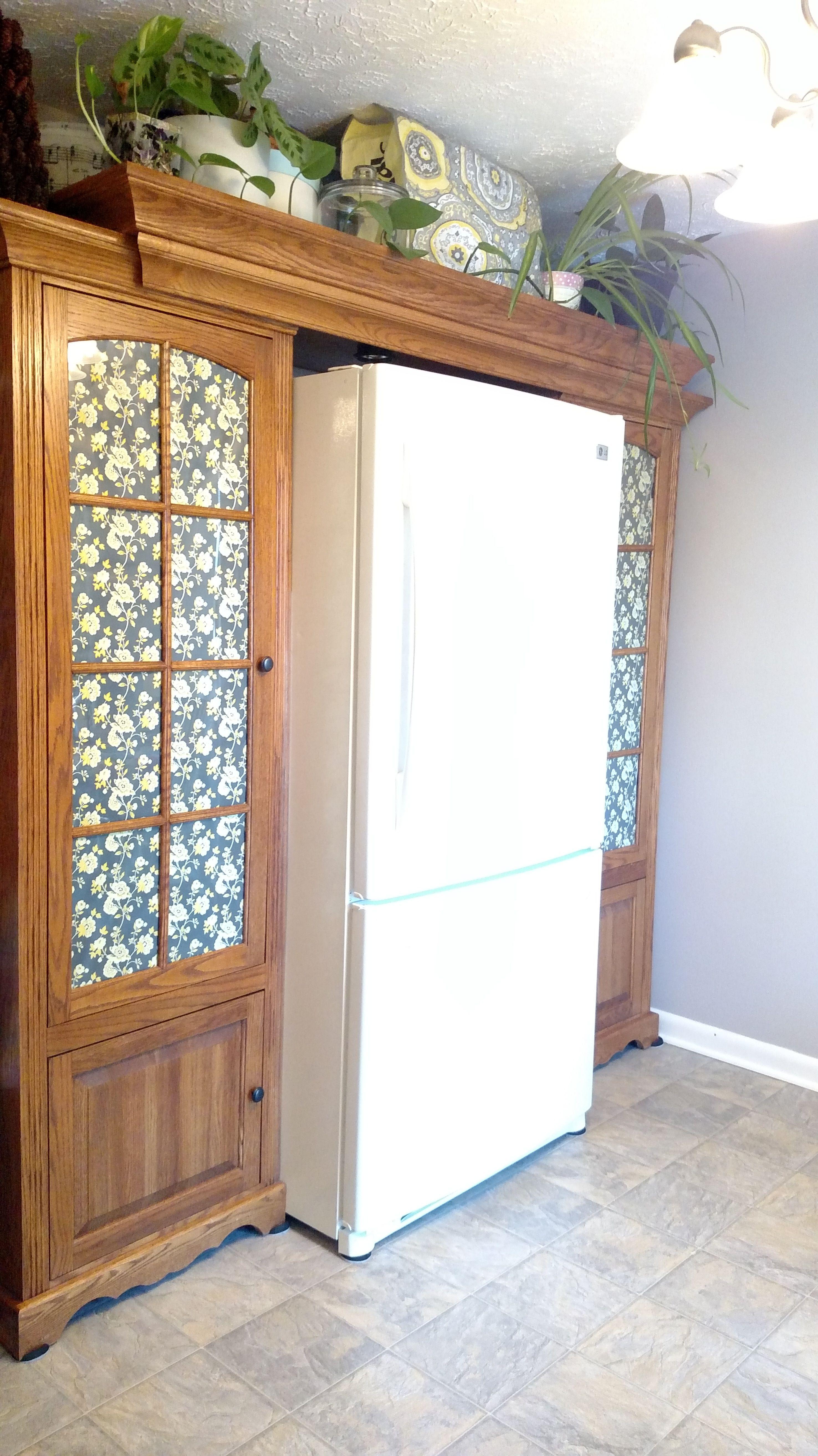 Kitchen Refrigerator Cabinet Surround | Refrigerator ...
