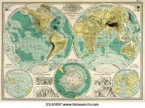 Stock illustration of antique world map chromolithograph 1897 stock illustration of antique world map chromolithograph 1897 23ch1897 search eps gumiabroncs Images