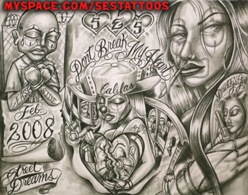 Cholo prison art google search lowrider art for Chicano tattoo art