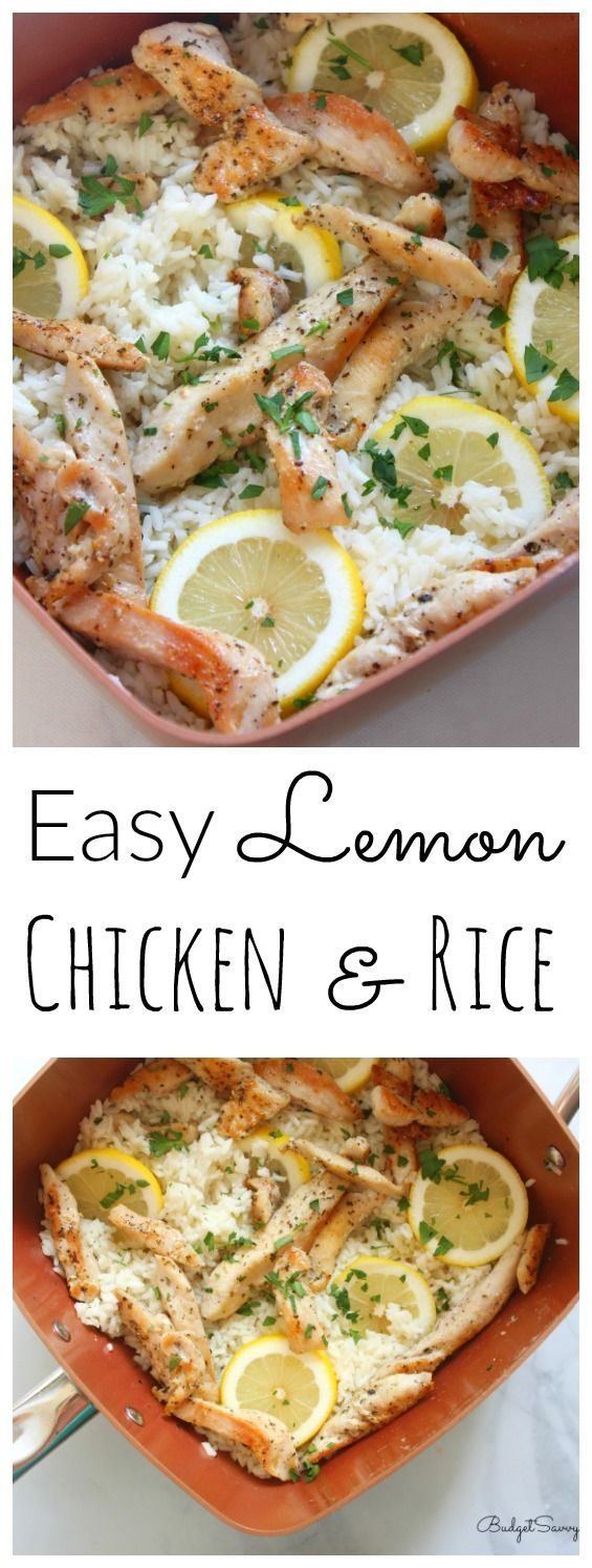 Easy Lemon Chicken And Rice Recipe Lemon Chicken Rice