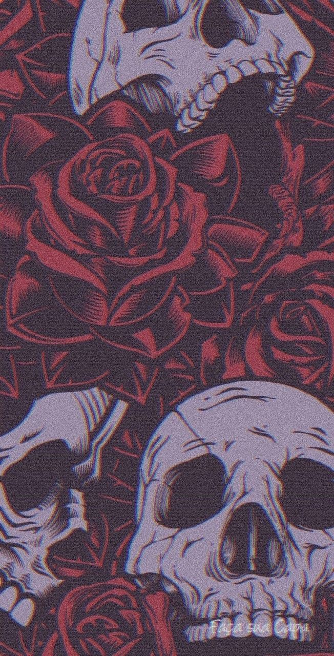 Skulls among the roses 🥀  on We Heart It
